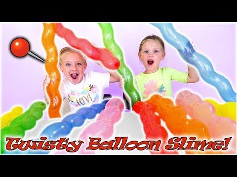 Find Your Slime Ingredients Challenge! Crazy Twisty Balloons Scavenger Hunt!