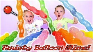 Find Your Slime Ingredients Challenge! Crazy Twisty Balloons Scavenger Hunt!