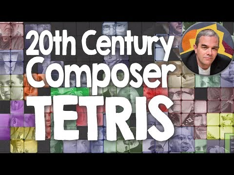 A Brief History of 20th Century Classical Music (Tetris-style)