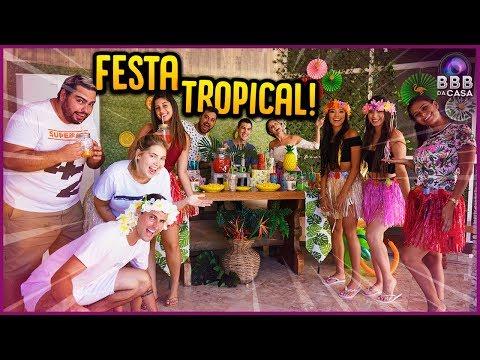 FESTA TROPICAL NA CASA!! - BBB DA CASA [ REZENDE EVIL ]