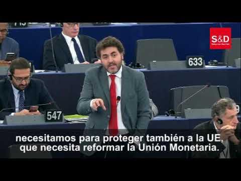 Intervención en el parlamento europeo con el Presidente del Gobierno de España, Pedro Sánchez