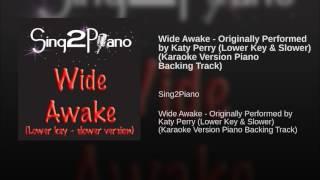 Wide Awake Originally Performed by Katy Perry Lower Key