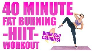 40 Minute Fat Burning HIIT Workout ????Burn 650 Calories! ????