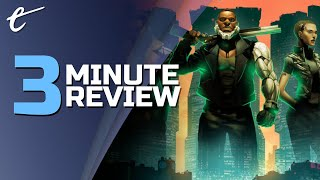 Disjunction | Review in 3 Minutes (Video Game Video Review)