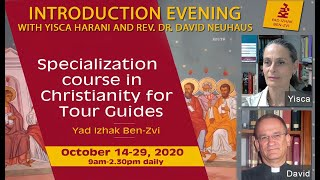 Introduction evening  with Yisca Harani and Rev. Dr. David Neuhause