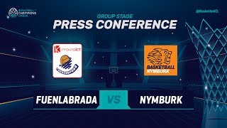 Montakit Fuenlabrada v CEZ Nymburk - Press Conference - Basketball Champions League 2018-19