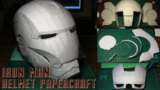 Iron Man Helmet Papercraft (Stop-motion assembly)