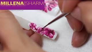 Дизайн для ногтей акриловыми красками TNL