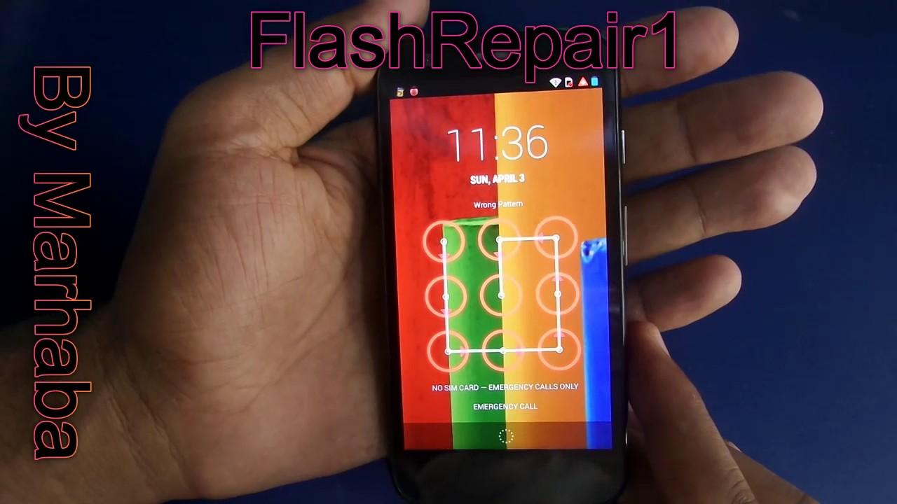 Hard Reset Motorola Moto G And Remove Pattern Lock