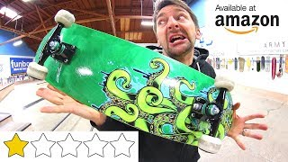 THE WORST REVIEWED AMAZON SKATEBOARD OF ALL TIME! thumbnail