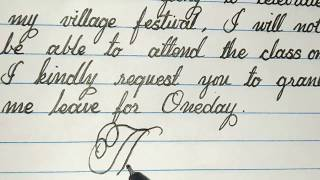 leave letter for festival in simple | cursive writing | cursive writer