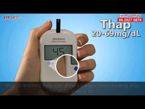 Hướng dẫn sử dụng máy đo đường huyết One Touch Select Simple