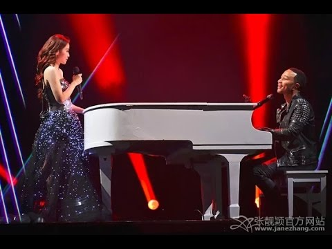 John Legend & Jane Zhang - All of Me (1st Day Version)(張靚穎2015巡演成都站)(DV by 小小)