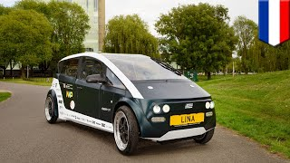 World's first biodegradable car 'Lina' built by Dutch students   TomoNews