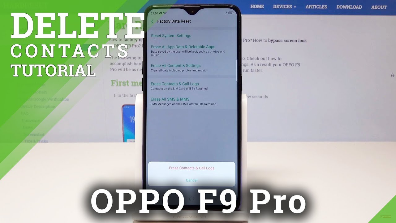 How to Reset Call History in OPPO F9 Pro - Delete Contacts
