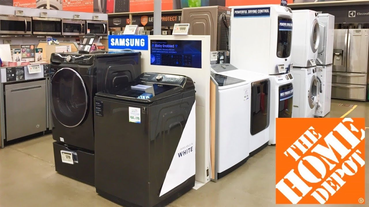 Home Depot Kitchen Appliances Refrigerators Stoves Washers Shop With Me Shopping Store Walk Through Youtube