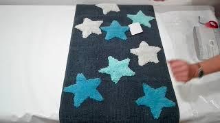 Коврик для ванной 50х90 Irya Star mavi голубой - обзор