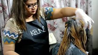 how to bleach hair with nazia khan