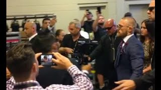 Floyd Mayweather, Conor McGregor Arrive At T-Mobile Arena For Boxing Match