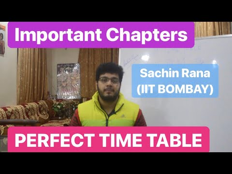 Tips for JEE Main 2019 | TIME TABLE | Important Chapters | Motivation