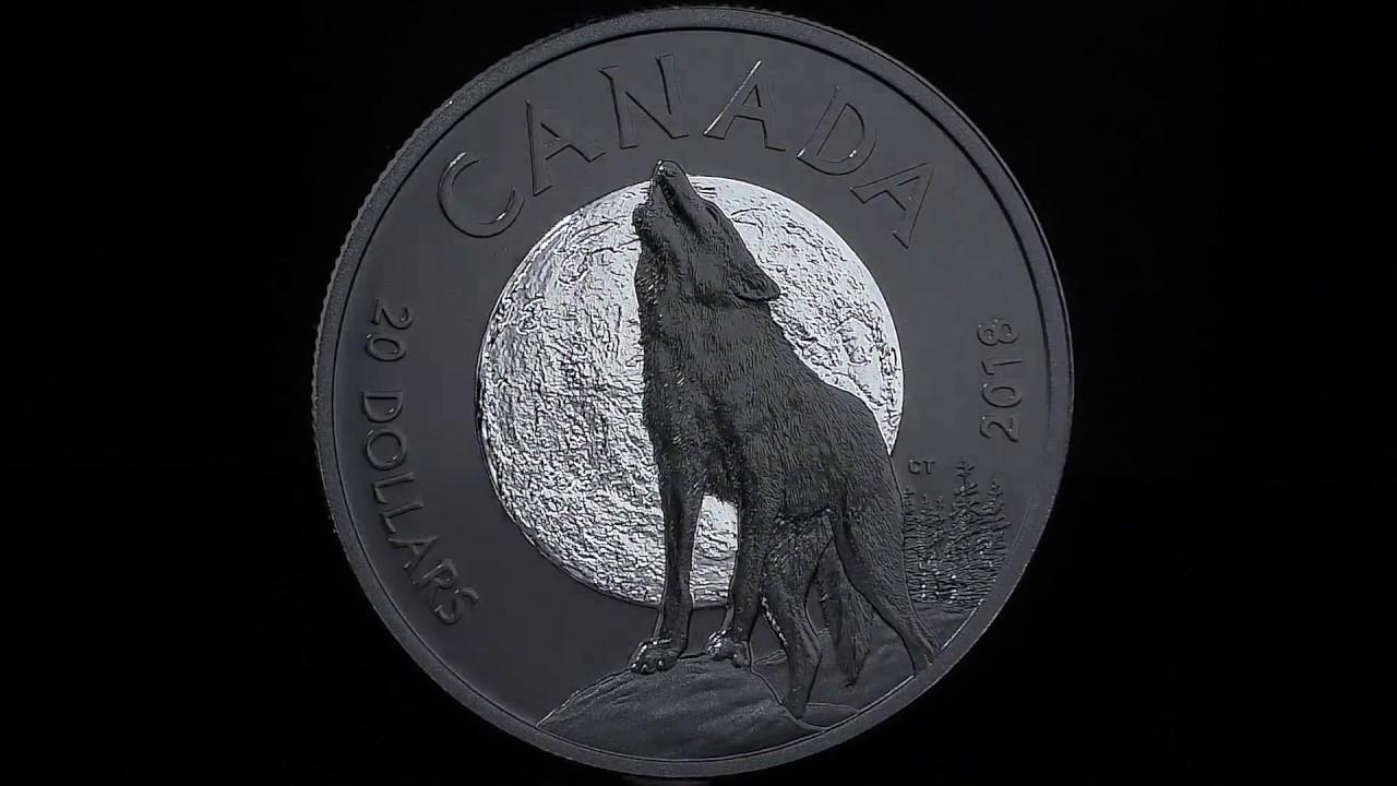 2018 Silver 1 oz Canadian Grey Wolf