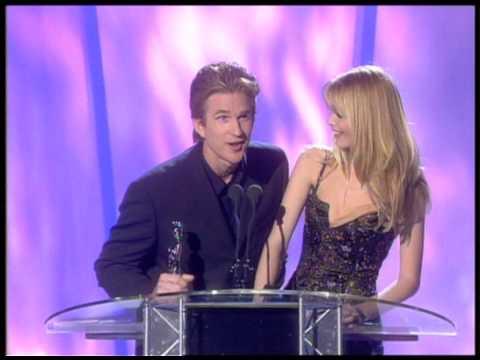 Jon Bon Jovi wins Intl. male presented by Matthew Modine & Claudia Schiffer  BRIT Awards 1998