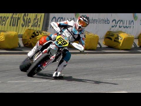 Supermoto Drifts, Jumps & Crashes | iDM St. Wendel 2016