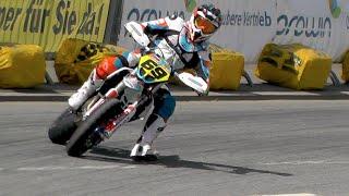Supermoto Drifts, Jumps & Crashes   iDM St. Wendel 2016
