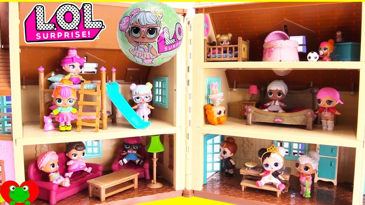 Lol Surprise Doll House Bunk Beds And Bedrooms Youtube
