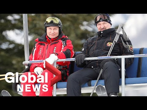 Vladimir Putin hits ski slopes in Sochi with Belarus Preside