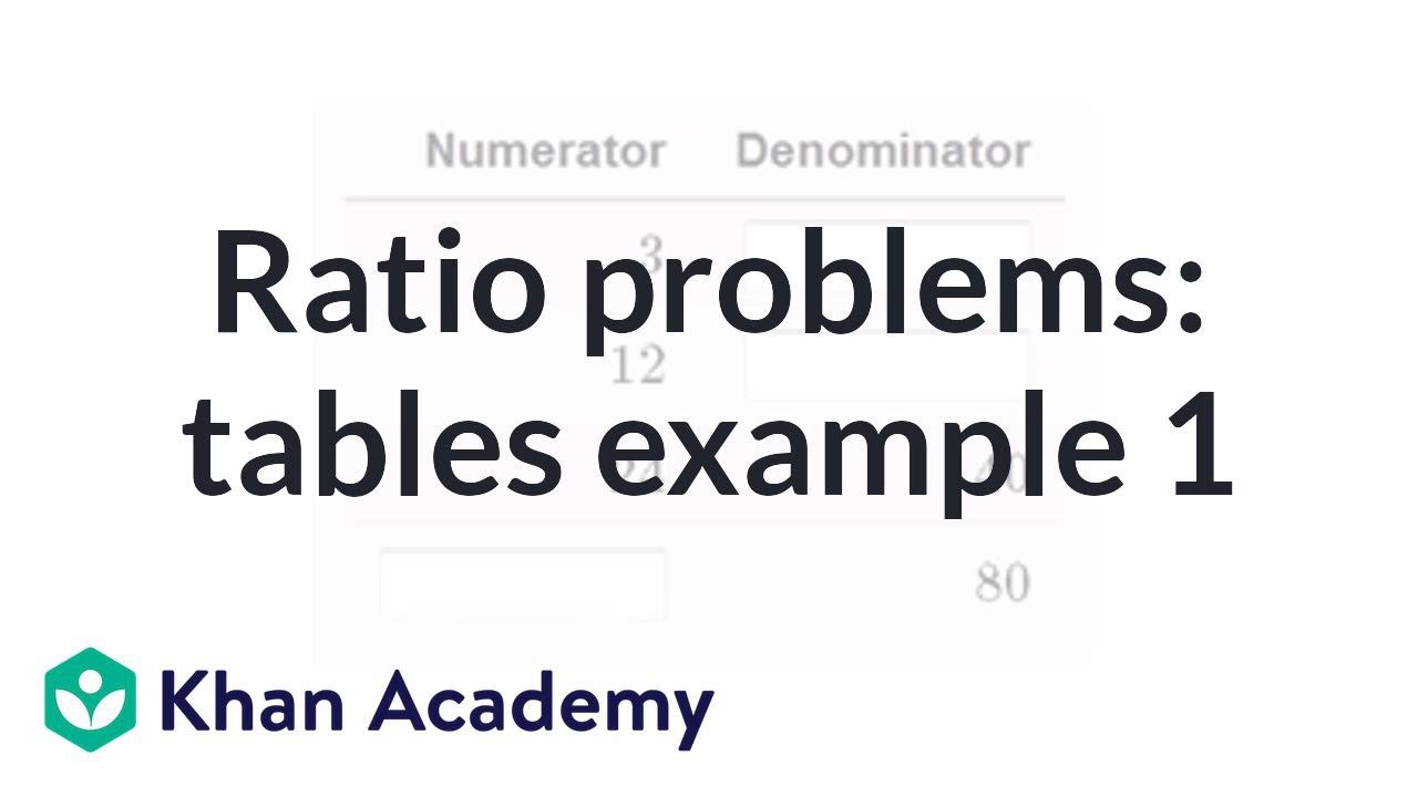 Solving ratio problems with tables (video)   Khan Academy [ 720 x 1280 Pixel ]