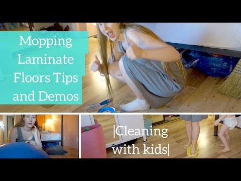 Mopping Laminate Floors Tips and Demos |Cleaning with kids|