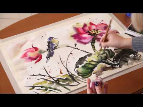 Китайская живопись акварелью видеоуроки