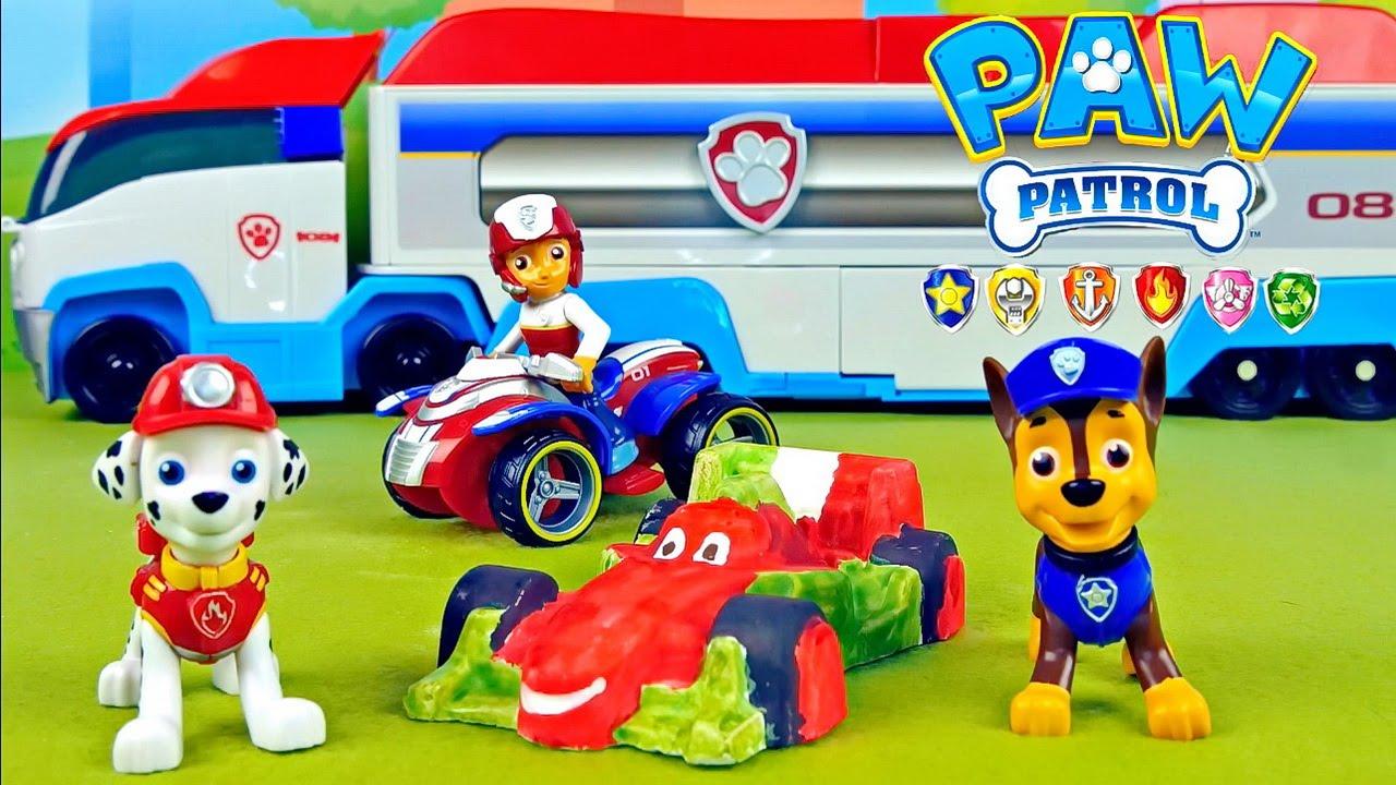 Щенячий Патруль и 3D раскраска гоночной машинки Франческо ...