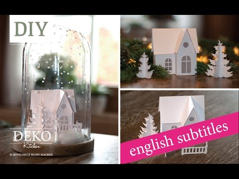 weihnachtsdeko basteln winterlandschaft tutorial winter wonderland how to deko kitchen. Black Bedroom Furniture Sets. Home Design Ideas