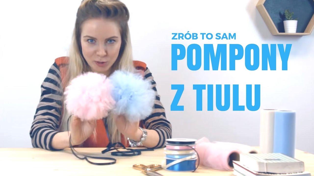 Jak Zrobić Pompony Z Tiulu Diy Pompony Tiulowe