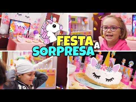 FESTA UNICORNO 🦄 A SORPRESA con le Party PopTeenies