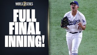 Full Final Inning of World Series Game 6 as Dodgers try to win 2020 World Series!