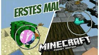 Er spielt zum ersten mal Minecraft PE  ( Mega Witzig ) // MCPE Skywars