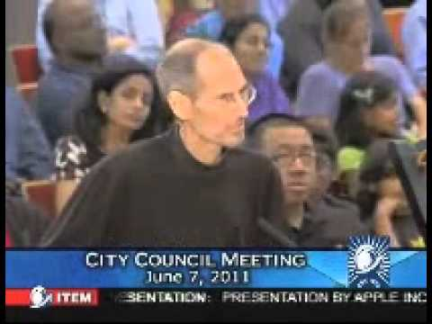 Steve Jobs Presents to the Cupertino City Council (6-7-2011) part 1 of 2
