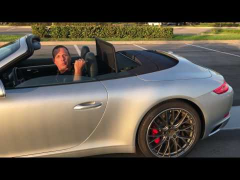 2017 Porsche 911 S Convertible top opperation in Miami Florida - Broward County