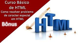 Como resolver problema de caracter especial ou acentuação em HTML Mp3