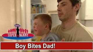 Tantruming Child Bites Dad's Broken Hand | Supernanny