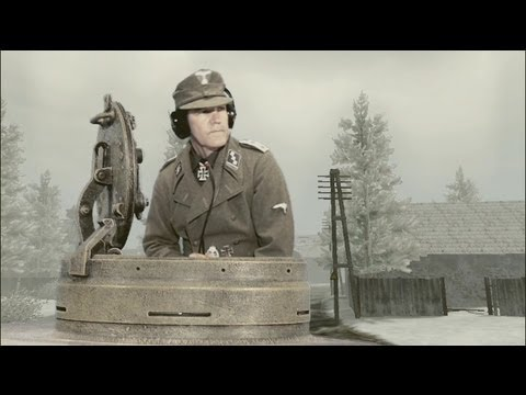 Tiger tank attacked by Hawker Tempest video, reconstruction with animation |