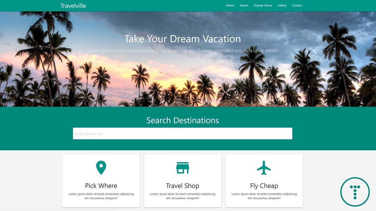 Build A Travel Agency Theme With Materialize Css 1 0 0 Youtube