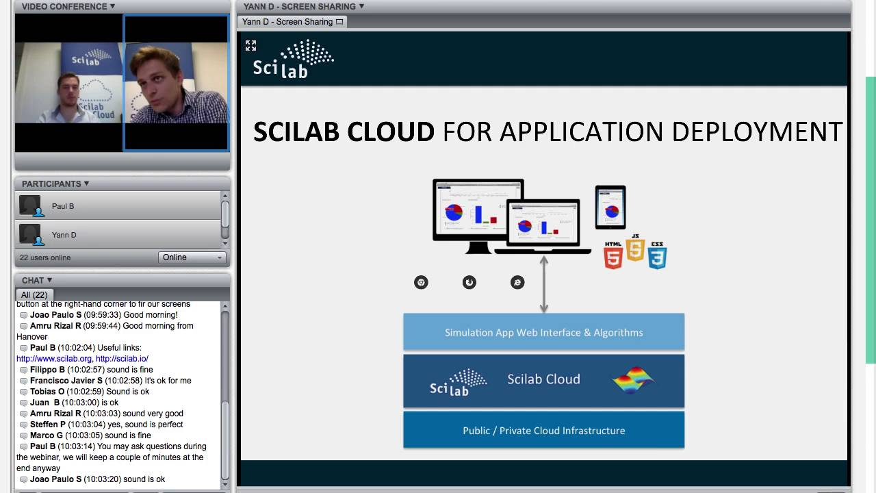 Webinar: Application Development with Scilab