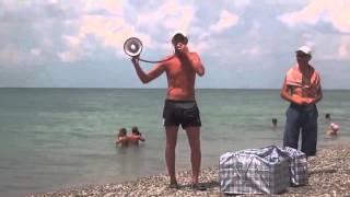 Продажа пирожков на пляже, прикол.