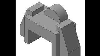 Видеоуроки по Компас 3D. Урок 3  Как создать 3d модель в Компасе по изометрии.