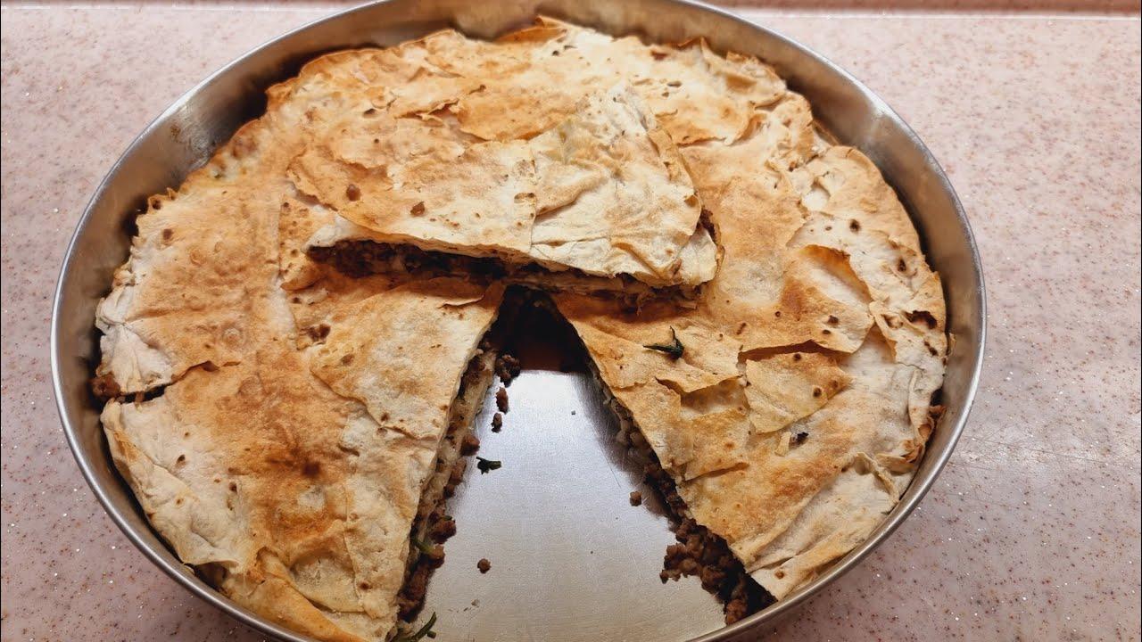 Kuru yufka dan, kıymalı börek yaptım!! Bu kadar kolayı yok🙂