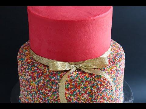 Easy 2 Tier Sprinkles Cake Tutorial- Rosie's Dessert Spot thumbnail